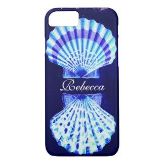 Capa iPhone 8/ 7 seashells náuticos rústicos do marinho da praia