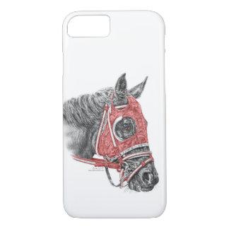 Capa iPhone 8/ 7 Sedas do retrato do cavalo de raça