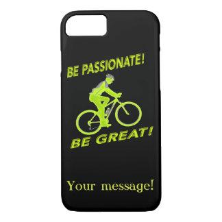 Capa iPhone 8/ 7 Seja apaixonado! Seja grande! Verde do