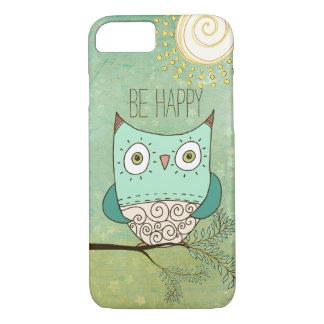 Capa iPhone 8/ 7 Seja coruja boémia retro feliz