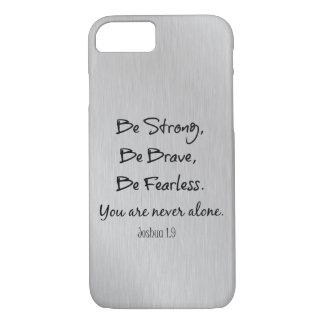 Capa iPhone 8/ 7 Seja forte, seja bravo, seja citações cristãs sem