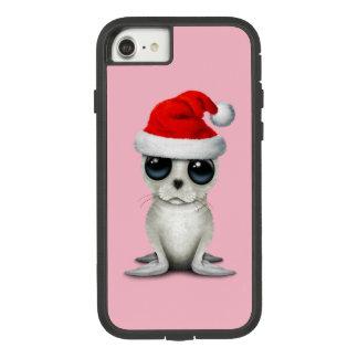 Capa iPhone 8/ 7 Selo ártico do bebê que veste um chapéu do papai
