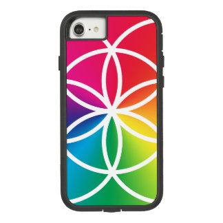 Capa iPhone 8/ 7 Semente do arco-íris de Chakras do símbolo da vida