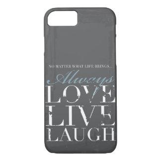 Capa iPhone 8/ 7 Sempre amor, vivo, riso - cobrir das cinzas do