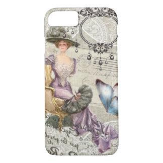Capa iPhone 8/ 7 senhora do victorian do vintage do candelabro do