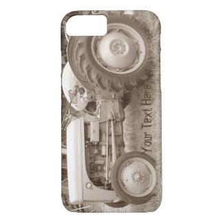 Capa iPhone 8/ 7 Sepia cinzento da foto do trator do fergison do