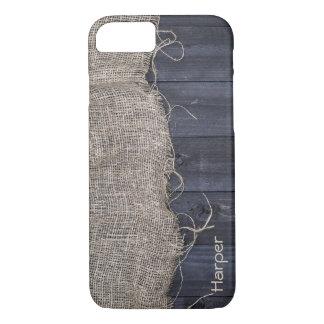 Capa iPhone 8/ 7 Serapilheira e madeira rústicas do celeiro com