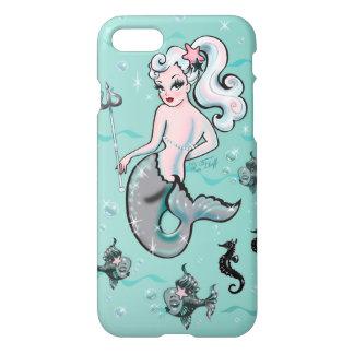 Capa iPhone 8/7 Sereia de Pearla que olha para trás a caixa do