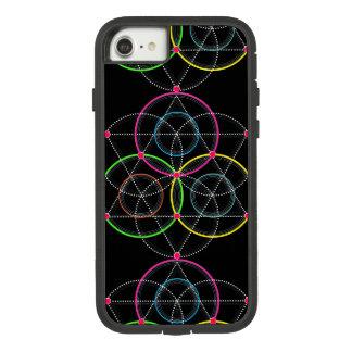 Capa iPhone 8/ 7 Série de círculos geométricos e linhas na cor