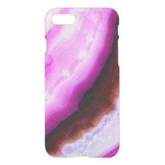 Capa iPhone 8/7 Série de pedra preciosa - ágata no roxo