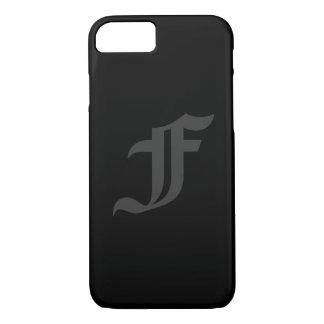 Capa iPhone 8/ 7 Seu design masculino das cinzas e do preto da