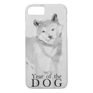 Capa iPhone 8/ 7 Shiba Inu que pinta o ano chinês 2018 Case3 do cão