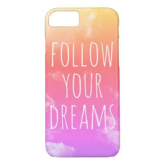 Capa iPhone 8/ 7 Siga seus sonhos que inspiram o iPhone das