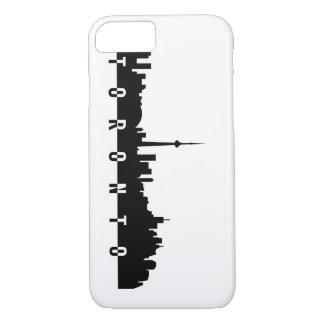 Capa iPhone 8/ 7 silhoue do preto do símbolo da cidade de Canadá da