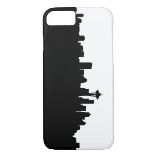 Capa iPhone 8/ 7 silhueta América do preto da arquitectura da