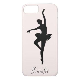 Capa iPhone 8/ 7 Silhueta cor-de-rosa personalizada da dança da