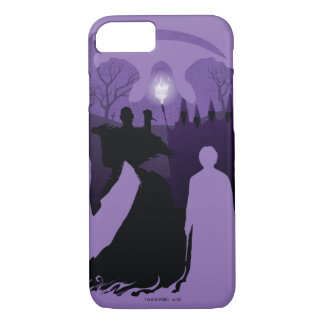 Capa iPhone 8/ 7 Silhueta da morte de Harry Potter |
