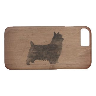 Capa iPhone 8/ 7 Silhueta de Terrier de seda rústica