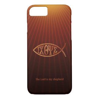Capa iPhone 8/ 7 Símbolo cristão elegante Ichthys dos peixes