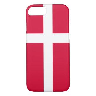 Capa iPhone 8/ 7 Símbolo da bandeira de país de Dinamarca por muito