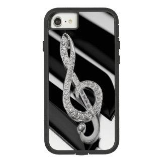 Capa iPhone 8/ 7 símbolo de música do piano