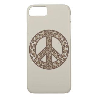 Capa iPhone 8/ 7 Símbolo de paz do leopardo
