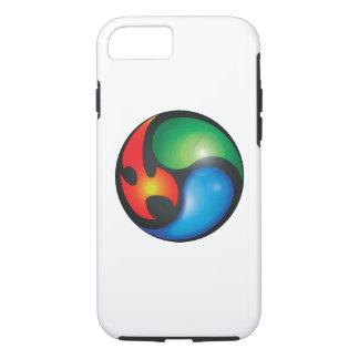 Capa iPhone 8/ 7 Símbolo de Yin Yan dos elementos do zen