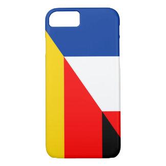 Capa iPhone 8/ 7 símbolo do país da bandeira de Alemanha france