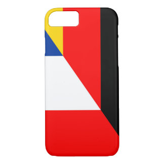 Capa iPhone 8/ 7 símbolo do país da bandeira de Alemanha france