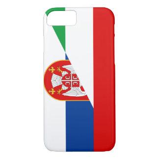 Capa iPhone 8/ 7 símbolo do país da bandeira de Hungria serbia meio