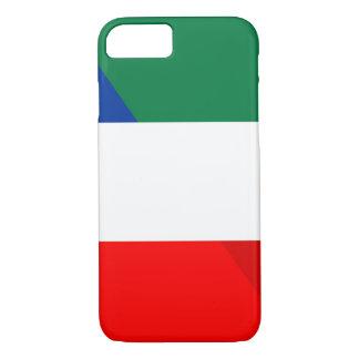 Capa iPhone 8/ 7 símbolo do país da bandeira de Italia france meio