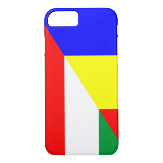 Capa iPhone 8/ 7 símbolo do país da bandeira de romania Hungria