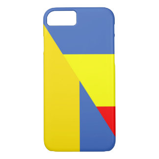 Capa iPhone 8/ 7 símbolo do país da bandeira de romania Ucrânia