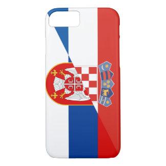 Capa iPhone 8/ 7 símbolo do país da bandeira de serbia croatia meio