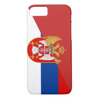 Capa iPhone 8/ 7 símbolo do país da bandeira de serbia Montenegro