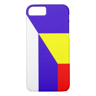 Capa iPhone 8/ 7 símbolo do país da bandeira de serbia romania meio