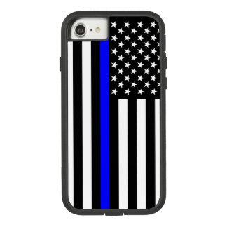 Capa iPhone 8/ 7 Símbolo fino de Blue Line da bandeira americana