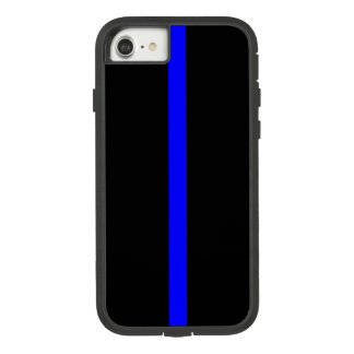 Capa iPhone 8/ 7 Símbolo fino de Blue Line sobre