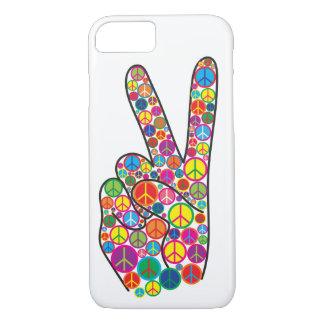Capa iPhone 8/ 7 Sinais de paz Groovy coloridos legal