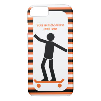 Capa iPhone 8/ 7 Skater em seus skate e listras