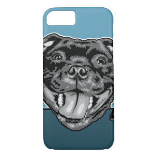 Capa iPhone 8/ 7 Smiler de Staffie - Staffordshire bull terrier