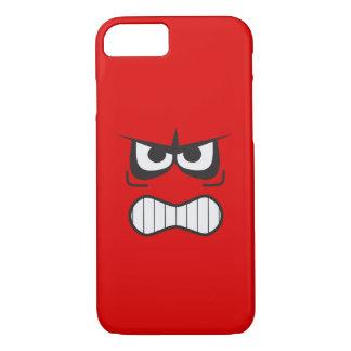 Capa iPhone 8/ 7 Smiley face irritado engraçado