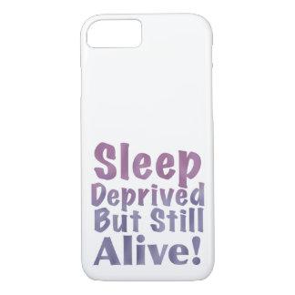 Capa iPhone 8/ 7 Sono destituído mas ainda vivo em roxos sonolentos