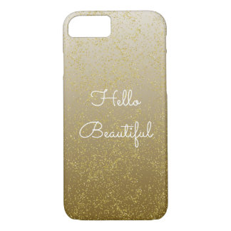 Capa iPhone 8/ 7 Sparkles chiques dos confetes do ouro olá! bonitos
