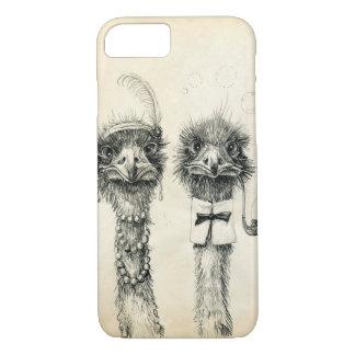 Capa iPhone 8/ 7 Sr. e Sra. Avestruz
