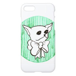 Capa iPhone 8/7 Sr. PiddlePoo a chihuahua, uma visão no verde