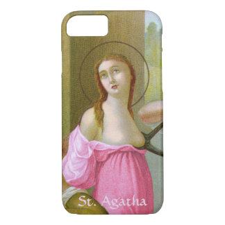 Capa iPhone 8/ 7 St. cor-de-rosa Agatha (M 003) mal lá