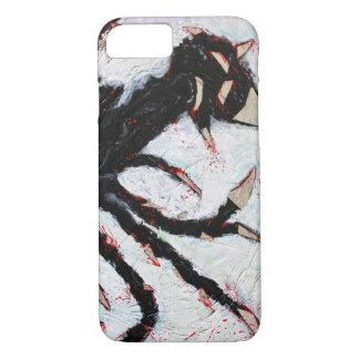 Capa iPhone 8/ 7 STABBY a arte TRISTE do cobrir   do MONSTRO pelo