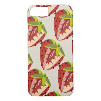 Capa iPhone 8/ 7 Strawberry vintage pattern