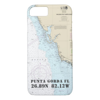 Capa iPhone 8/ 7 Sua longitude da latitude da cidade da costa do